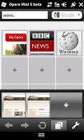 Opera Mini 5 on HTC HD2