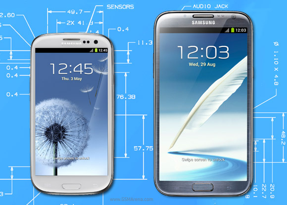 Samsung galaxy s iii vs note ii sizing up