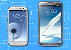 Samsung Galaxy S III vs. Note II: Sizing up - read the full text