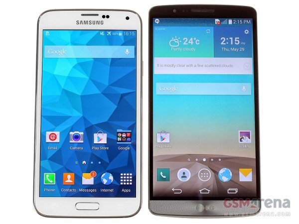 Samsung Galaxy S5 vs LG G3 - YouTube