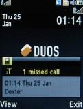 Samsung D780 screenshot