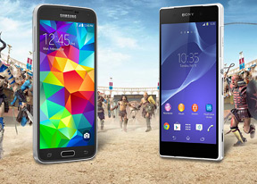 Samsung Galaxy S5 vs Sony Xperia Z2: Droid gladiators