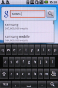 Samsung I7500 Galaxy screenshot