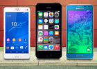 iPhone 6 vs. Galaxy Alpha vs. Xperia Z3 Compact