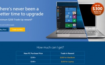 Looking to buy a new Windows 10 computer? You can take advantage of Microsoft's Easy Trade Up promotion