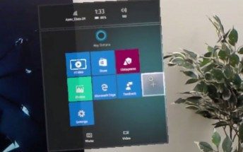 Quick demo video reveals HoloLens Start Menu and navigation
