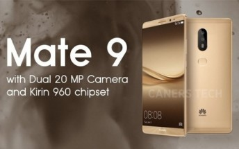 Huawei Mate 9 to come in three versions, memory and pricing leaks
