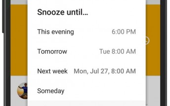 Inbox by Gmail adds new Snooze options