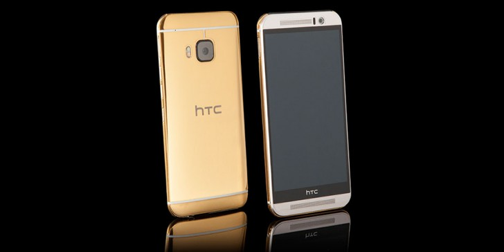 HTC One M9 gets the gold treatment