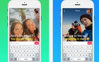 Yahoo's new LiveText app combines text messages with muted video