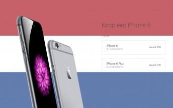 Dutch iPhone 6s and 6s Plus prices leaked, still the same