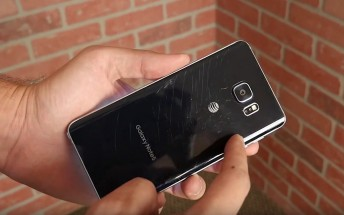 Samsung Galaxy Note5's first drop test proves the brittleness of the glass design