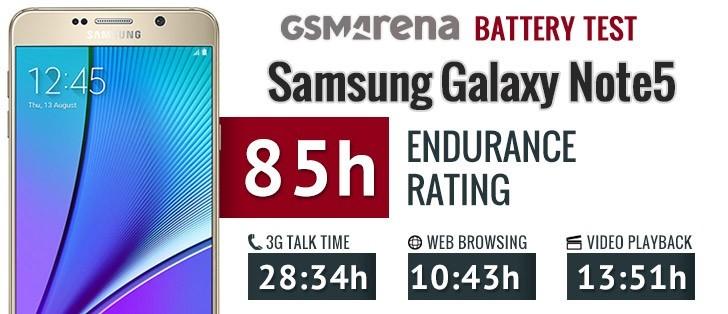 Samsung Galaxy Note5 Battery Life Test Gsmarena Blog