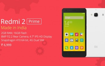 Xiaomi launches India-made Redmi 2 Prime