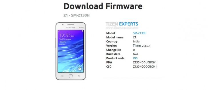Samsung Z1 gets a small Tizen update - GSMArena blog