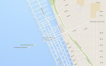Google Maps shows global warming effect on Los Angeles coastline
