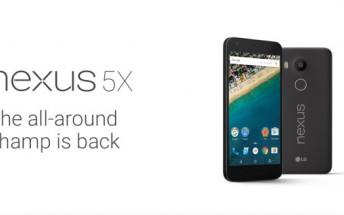 LG Nexus 5X specs leak in full ahead of tomorrow's announcement