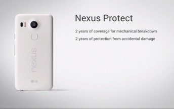 Nexus Protect is Google's premium warranty for Nexus 5X and Nexus 6P