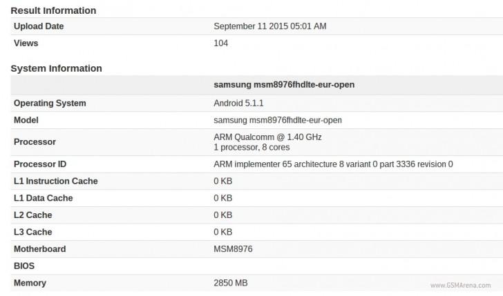Snapdragon 620-toting Samsung device gets benchmarked - GSMArena com