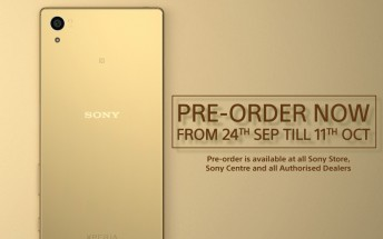 Sony Xperia Z5 up for pre-order in Hong Kong and Singapore