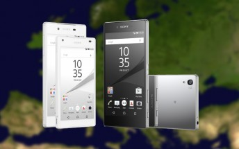 European prices for the Xperia Z5, Z5 Premium, Z5 Compact revealed
