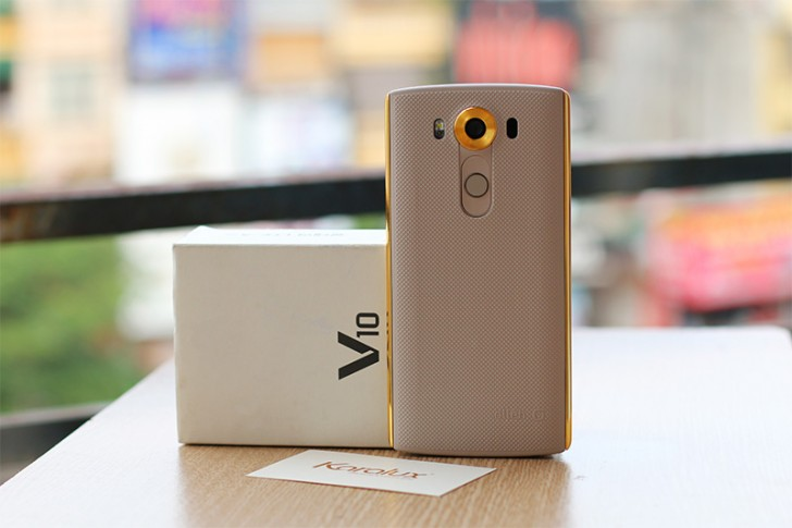 Newly-announced LG V10 gets 24K gold treatment
