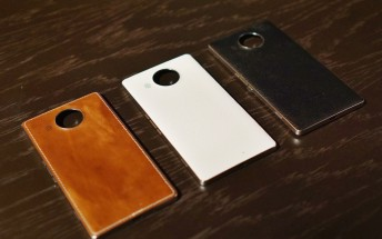 Genuine leather backs for Microsoft Lumia 950 and 950 XL from Mozo