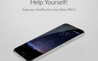 Latest Meizu campaign offers to swap your OnePlus 2 for a new PRO 5