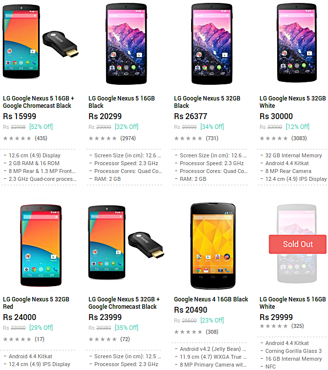 16GB Nexus 5 with Google Chromecast now available for just $247 in