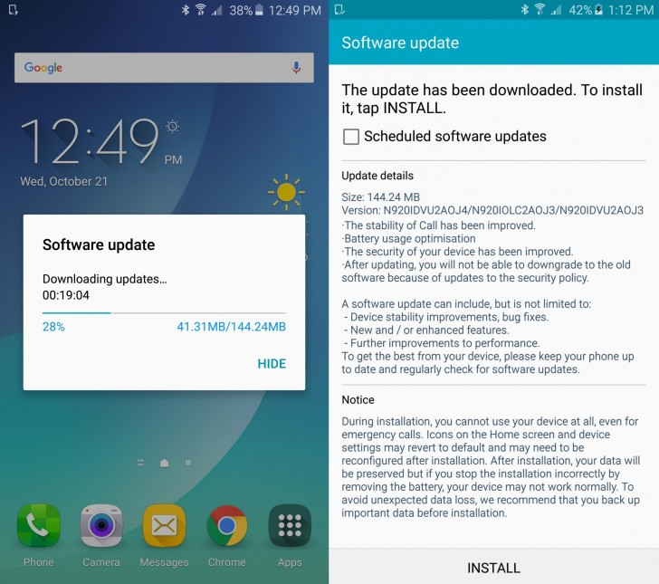 Samsung Galaxy Note5 update brings call stability and