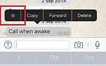 WhatsApp for iOS updated with the ability to 'star' messages