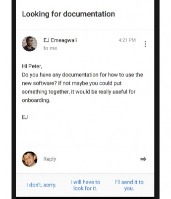 how to send reply options on gmail