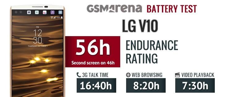 LG V10 battery life test