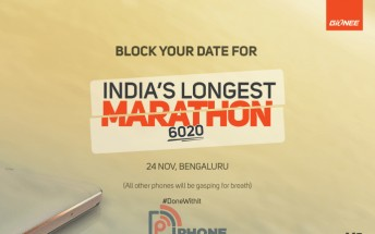 Gionee Marathon M5 India launch scheduled for November 24