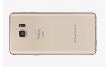 Gold Samsung Galaxy Note5 is finally available at Verizon and AT&T