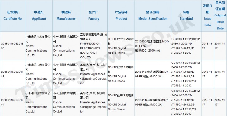 Two Xiaomi phones pass through China\'s 3C certification authority ...