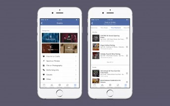 Facebook events are now listed by category