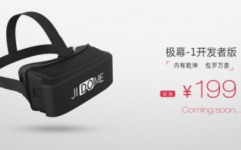 Chinese company FiresVR launches a new VR headset JiDome-1