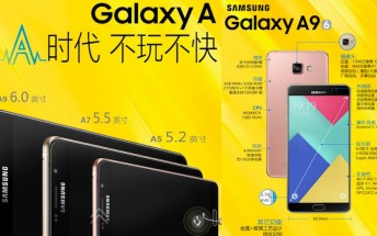Samsung Galaxy A9 is official with a 6-inch screen and 4,000mAh battery
