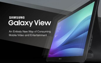 Samsung Galaxy View infographic focuses on entertainment