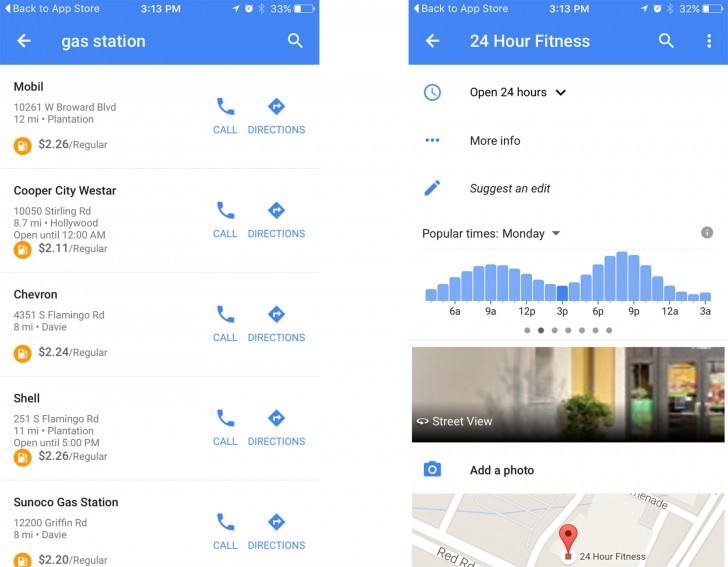 Google Maps for iOS updated with gas prices and offline
