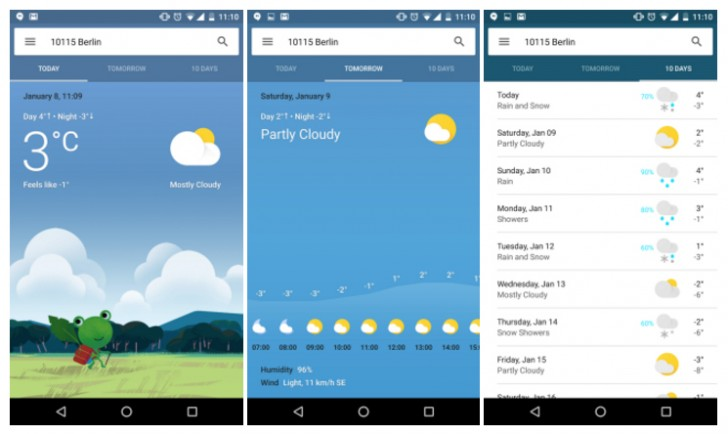 Google Now weather card becomes a lot more colorful, app-like
