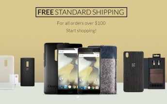 All OnePlus orders above $100 get free shipping