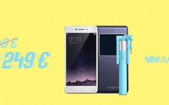 48 hour flash sale lets you get the Oppo R7 with a €100 discount, free accessories