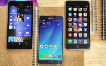 Poll: Galaxy Note5 vs iPhone 6s Plus vs Lumia 950 XL
