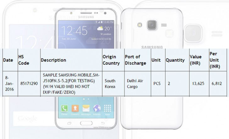 samsung galaxy j5 2016 edition pops up in india s import