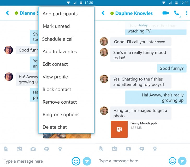 Skype for Android now lets you schedule calls in Outlook open