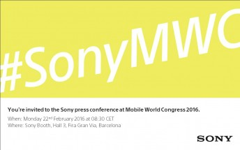Sony MWC 2016 press event set for February 22