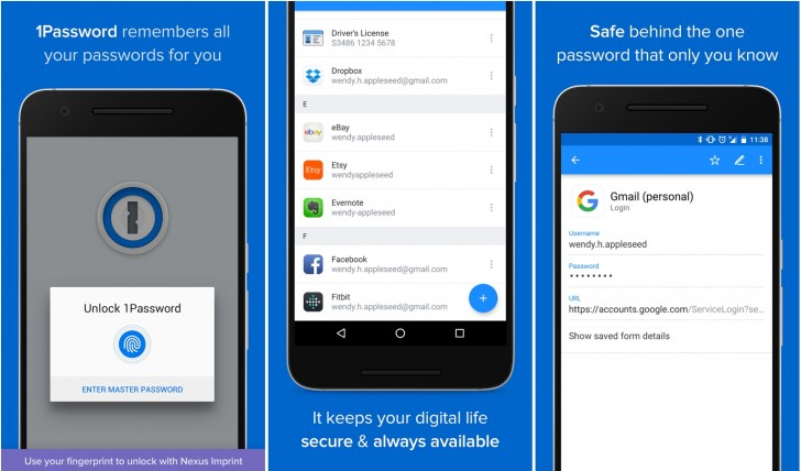 1password for android gets material design and fingerprint for Home addition design app