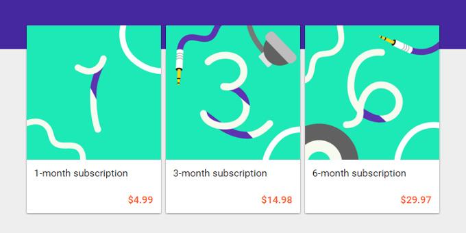 google music subscription